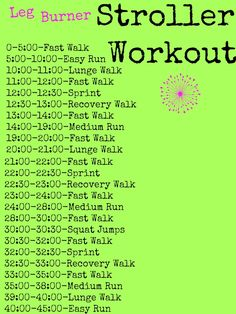 Leg Burner Stroller Workout from Happy Healthy Mama
