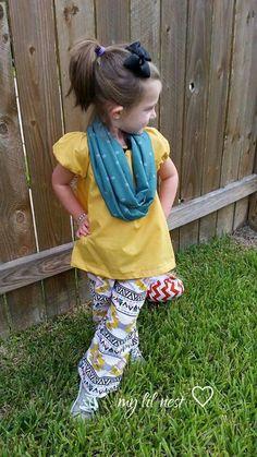 Diy infinity scarf, peasant top & pants @ my lil nest ♡ facebook