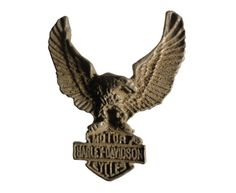 """HARLEY DAVIDSON Eagle vintage pin lapel badge metal motorcycle Official Merchandise by VintageTrafficUSA  18.00 USD  A vintage Harley Davidson eagle pin used but excellent condition. Official Harley logo on back! Measures: approx 1"""" Have some individuality = some flair! 20 years old hard to find vintage high-quality lapel/pin. These rare pins are proven to win you friends and influence people! Add inspiration to your handbag tie jacket backpack hat or wall…"""