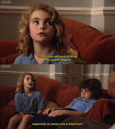 Karen from Outnumbered setting far too much stock in horoscopes and star signs...