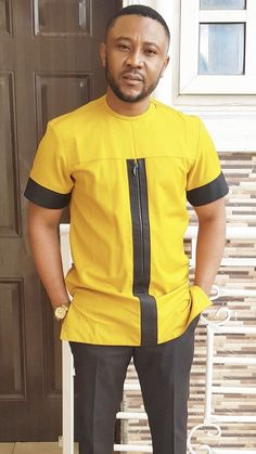 Senator outfits for the real men - DarlingNaija African Male Suits, African Wear Styles For Men, African Shirts For Men, African Dresses Men, African Attire For Men, African Clothing For Men, Latest African Men Fashion, Nigerian Men Fashion, Couples African Outfits