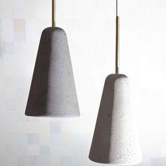 DARK GREY/WHITE TaLampaICONCRETE LAMP #talampa #concretelamp #concrete #brass…