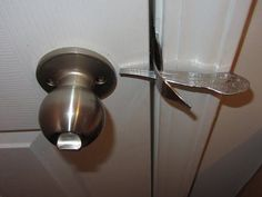 DINNER FORK DOOR LOCK - YouTube