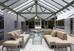 Terraza techada