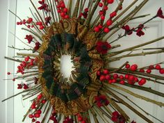 DIY Craft Project:  Fall into the Holidays Wreath