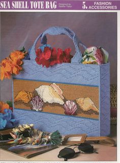Sea Shell Tote Bag Plastic Canvas Pattern by needlecraftsupershop, $3.50