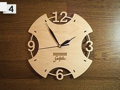 Laser cut clock                                                                                                                                                                                 More