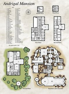 Map of a mansion