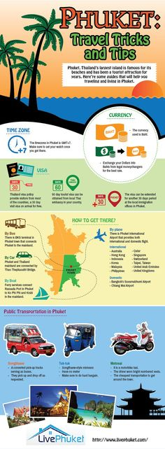 Travelling to Phuket? Here are some handy tips and facts about this idyllic and famous island. Phuket is Thailand's largest Island and is a popular destination for tourists around the globe. Famed for its gorgeous beaches, wild nightlife and top quality golf courses, to name but a few attractions, there is never a dull moment to be had!