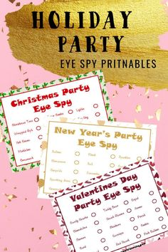 These printable I Spy games for winter holidays will keep the whole family involved and having fun. Games for Christmas, New Year's and Valentine's Day. Printable Activities For Kids, Indoor Activities For Kids, Family Activities, Outdoor Activities, Valentine Cupid, Valentines, Winter Holidays, Christmas Holidays, Happy Holidays