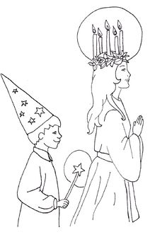 St. Lucy & Star Boy coloring page