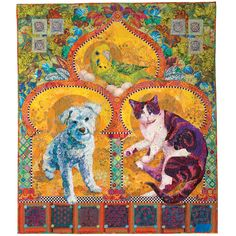 Golden Temple of the Good Girls by Susan Carlson.  Judge's Recognition award by Melinda Bula.  2015 AQS quilt show - Paducah.