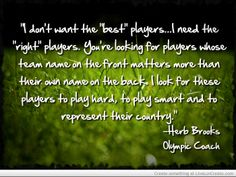 Herb Brooks Quotes youre playing worse and worse every day and right now you herb brooks wikipedia 7 thought provoking quotes herb Goalie Quotes, Hockey Quotes, Sport Quotes, New Quotes, Change Quotes, Motivational Quotes, Herb Brooks Quotes, Hockey Crafts, Miracle Quotes