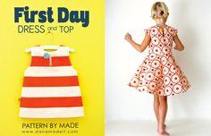 Giveaway!! // First Day Dress Pattern + Kona Cotton - Knitty Bitties