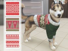 Christmas Jumpers for Dogs by Odey92 at TSR • Sims 4 Updates