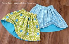 A Little More Sewing - Reversible Skirts  - using this fabulous tutorial - http://fashionedbymeg.blogspot.com/2010/07/simple-reversible-skirt-tutorial.html