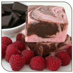 Mo's Fudge, Dark Chocolate Raspberry Fudge 1/2 Pound - http://bestchocolateshop.com/mos-fudge-dark-chocolate-raspberry-fudge-12-pound/