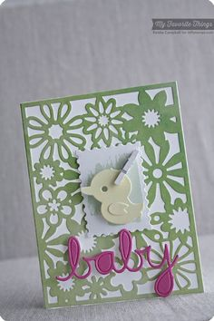 Watercolor Backdrops, Floral Fusion Cover-Up Die-namics, Oh Baby Die-namics, Postage Stamp Die-namics - Keisha Campbell #mftstamps