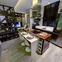 Pequeno studio de 33m², perfeito para um jovem casal
