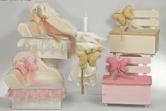 RESERVED Personalized greek baptism set for baby girl christening - Butterfly theme by eAGAPIcom on Etsy