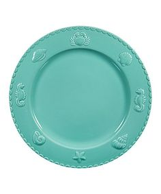 Another great find on #zulily! Aqua Sanibel Dinner Plate #zulilyfinds
