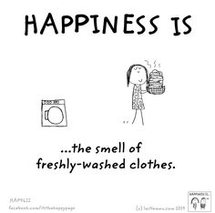Happiness is....fresh laundry