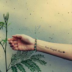 LIVE.LAUGH.LOVE heart tattoo InknArt Temporary Tattoo by InknArt, $4.99