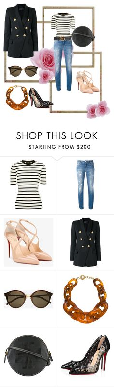 """Ynallection Check it out"" by pearllynnerivera on Polyvore featuring Theory, Dolce&Gabbana, Christian Louboutin, Balmain, Yves Saint Laurent, Tory Burch and Gucci"