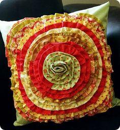 Ruffly pillow