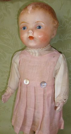 Early Composition Doll from dollsandsmalls on Ruby Lane