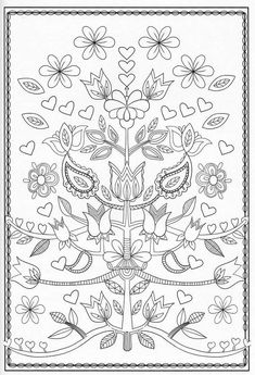 Fun jacobean floral embroidery patterns ideas From 32 Jacobean Floral Embroidery Patterns Jacobean Embroidery, Floral Embroidery Patterns, Embroidery Hoop Art, Embroidery Designs, Pattern Coloring Pages, Coloring Book Pages, Coloring Sheets, Zentangle Patterns, Quilting Designs