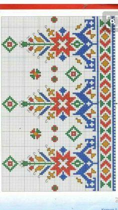 Cross Stitch Rose, Cross Stitch Borders, Cross Stitch Flowers, Cross Stitch Designs, Cross Stitch Patterns, Folk Embroidery, Cross Stitch Embroidery, Embroidery Patterns, Fair Isle Knitting Patterns