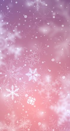 Pink background with snowflakes falling down Christmas Phone Wallpaper, Winter Wallpaper, Nature Wallpaper, Wallpaper Backgrounds, Winter Backgrounds, Flower Iphone Wallpaper, Cellphone Wallpaper, Galaxy Wallpaper, Wallpapers Android