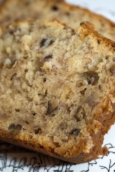 Cream Cheese Banana Nut Bread ~ The cream cheese adds so much to this recipe, with an incredibly moist texture being the main component. Pretty tasty!