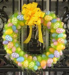 Egg Wreath for spring or Easter