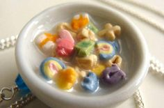 The Perfect Bowl of Lucky Charms (not real) clay charm