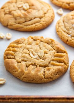 Thick and chewy Peanut Butter Cookies! This recipe is truly perfect.