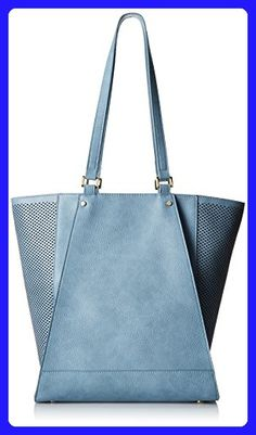 POVERTY FLATS by rian Perf Detail Tote, Blue, One Size - Totes (*Amazon Partner-Link)