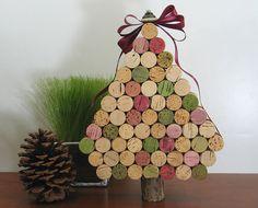 An #upcycled cork #Christmas #tree