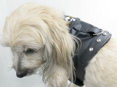 Biker Dog Harness Vest Pet Clothing Dog by LittleDogsCloset