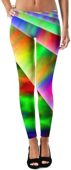 Infinite Rainbow Universe Neo Custom Killer Rave Party Street Style Leggings by Willy Badu.