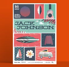 Jack Johnson poster for Valencia. Valencia, Jack Johnson, Graphic Design, Concert, Poster, Studio Apartment Design, Projects, Recital, Concerts