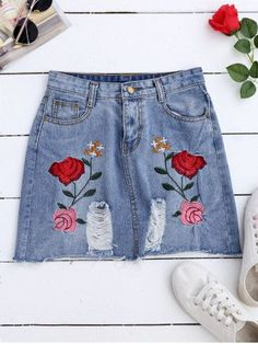 GET $50 NOW | Join RoseGal: Get YOUR $50 NOW!http://m.rosegal.com/skirts/rose-embroideried-a-line-ripped-1137537.html?seid=8906377rg1137537