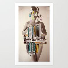 deux Art Print by Cardboardcities - $18.00