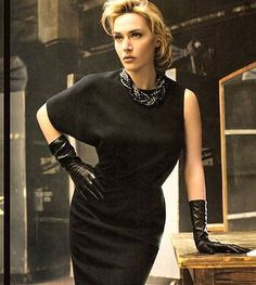 Kate Winslet In Silk Lined Leather Gloves Kate Winslet, Black Leather Gloves, Vogue, Glamour, Look Chic, Sophisticated Style, Timeless Beauty, Actors, Beautiful People