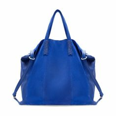 SHOPPER COMBINADO PIEL, zara, leather, bag, ink, shopping, wishlist, fashion, ss13, summer,love