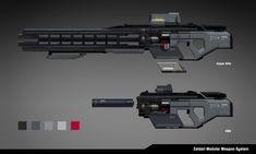 ArtStation - Modular Weapon System Concept, William Chen