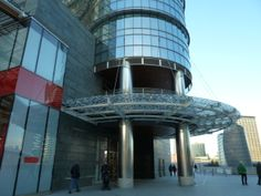 The entrance to the luxury apartment and office complex in Piazza Gae Aulenti, Porta Nuova, Milan.