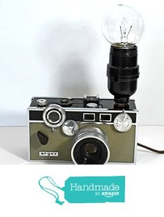 art sculpture decorative 1 Vintage Argus C3 ( The Brick ) camera desk lamp....photography, photographer steampunk lamp , Lighting 7.5 x 5 1/2 x 3 from Riverstone Gallery https://www.amazon.com/dp/B01E1QMGWS/ref=hnd_sw_r_pi_awdo_4ZHgybZ01V0TS #handmadeatamazon