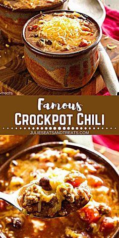 Crock Pot Chili, Sopa Crock Pot, Crock Pot Slow Cooker, Crock Pot Cooking, Slow Cooker Recipes, Cooking Recipes, Chili Chili, Chili Recipe Crockpot Best, Best Slow Cooker Chili